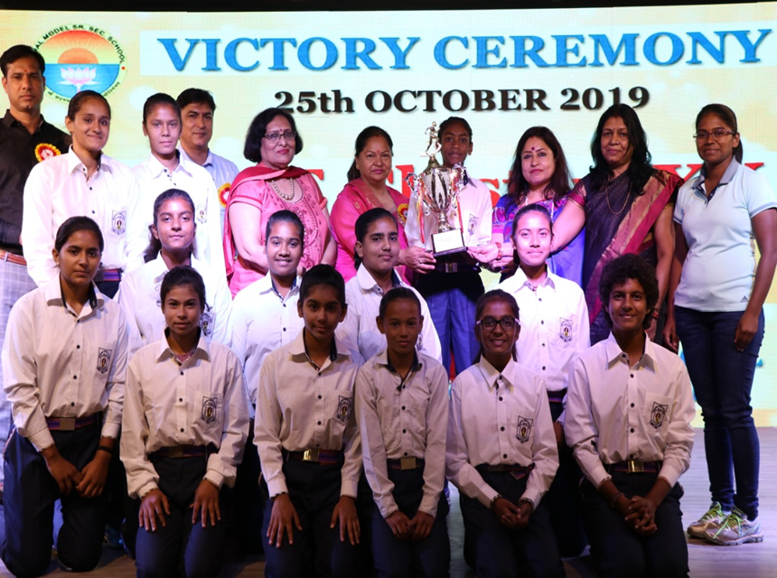 Victory Ceremony of Athletics Team